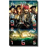 "MAGIC WALL CLOCK FOR DISNEY FANS Pirates of the Caribbean 17'' x 11"" Handmade made of acrylic glass - Get unique décor for home or office – Best gift ideas for kids, friends, parents"