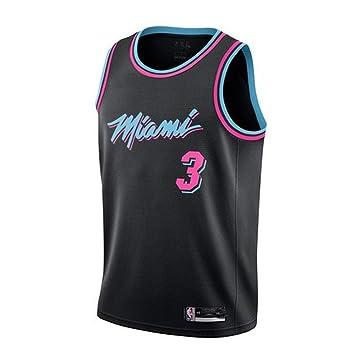 LHDDD NBA Baloncesto Uniformes Camiseta de la bola de verano de Urban Edition NBA Jersey Hot Team # 3 Wade Jersey Basketball Suit Camisetas Uniformes