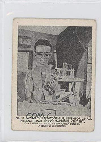 Brains, Scientific Genius, Inventor of All International Rescue Machines Ungraded COMC Good to VG-EX (Trading Card) 1966 Somportex Thunderbirds Small - [Base] #11