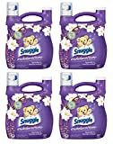 Snuggle Exhilarations Liquid Fabric Softener, White Lavender & Sandalwood Twist, 96 oz (Pack of 4)