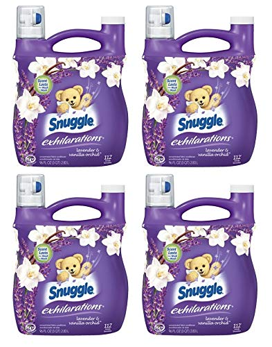 Snuggle Exhilarations Liquid Fabric Softener, White Lavender & Sandalwood Twist, 96 oz (Pack of 4) by by Snuggle