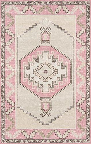 (Momeni ANATOANA-2PNK799A Anatolia Wool and Nylon Area Rug, 7'9