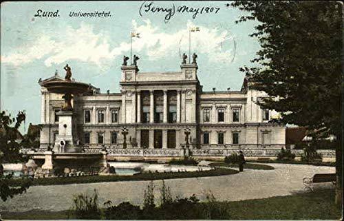 University of Lund Lund, Sweden Original Vintage Postcard from CardCow Vintage Postcards