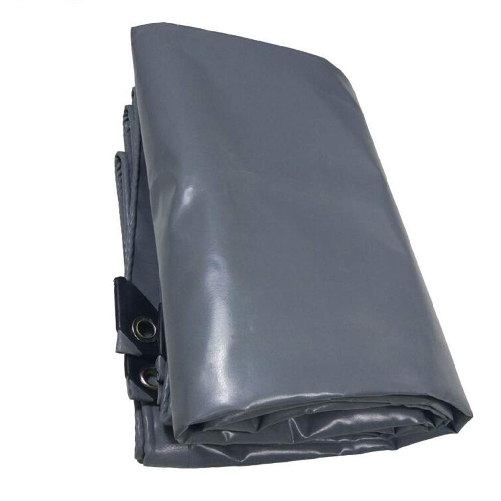 Plane PENGJUN Tarps Graue Wasserdichte staubdichte Frostschutzmarkisen-Hochleistungsplane 500g / m2, 0.4mm Es ist weit verbreitet