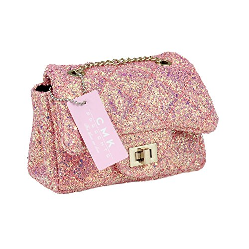 53849174a CMK Trendy Kids Sparkly Glitter Toddler Kids Purse for Girls Quilted Little  Girl Purses