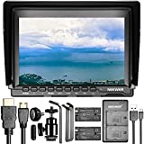 Neewer NW759(C) 7 inches Camera Field Monitor Kit: 1280x800 IPS Screen Monitor with Dual USB Charger and 2 Packs LP-E6 Replacement Li-ion Battery for Nikon Sony Canon Olympus Pentax Panasonic Cameras