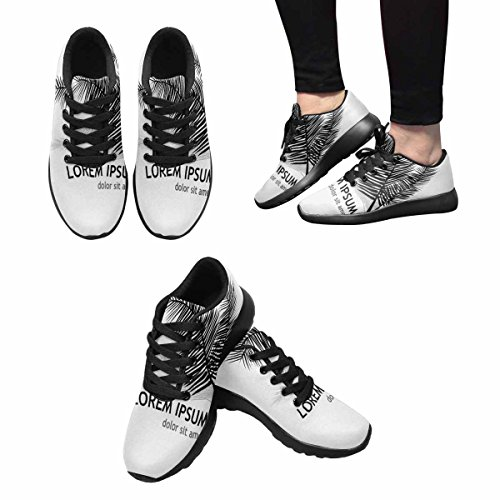 InterestPrint Womens Jogging Running Sneaker Lightweight Go Easy Walking Casual Comfort Running Shoes Logo Palm Branch Multi 1 VSgZr6YPyn