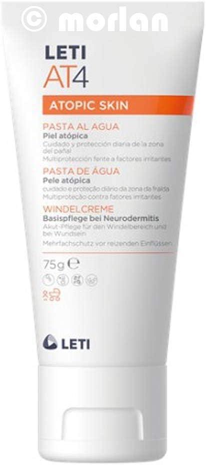 Laboratorios Leti AT4 - Crema pañal para pieles atópicas o secas, 2 x 75 g: Amazon.es: Belleza