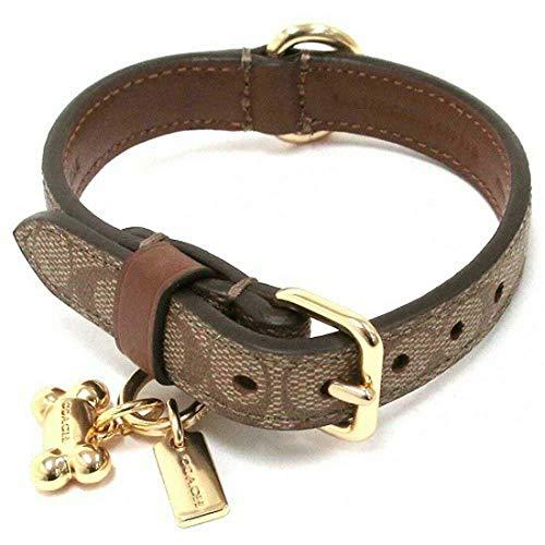 (Coach Mini Signature Small Dog Collar)