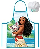 Disney Moana/Vaiana Apron and Chef's Hats Set, Officially Licensed.