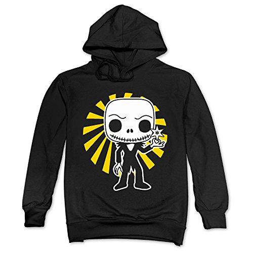 Feniay Cool Skeleton Design Men's Hooded Sweatshirt -