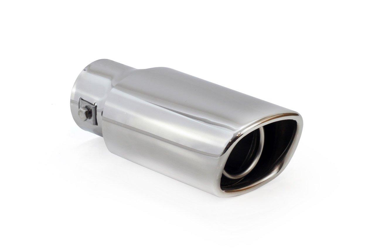 KMH-Tuning mt015–Aspect inox Embout d'échappement Embout universel Exhaust carré Sport en acier inoxydable Ø 30–48mm à visser Vertex24