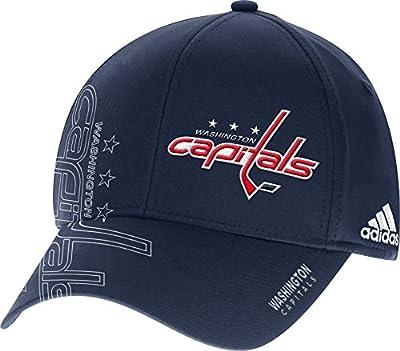adidas NHL Washington Capitals Second Season Structured ADJ Hat, X-Large/XX-Large, Navy