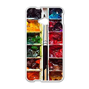 Colorful Water Colour Design Plastic Case Cover For HTC M7