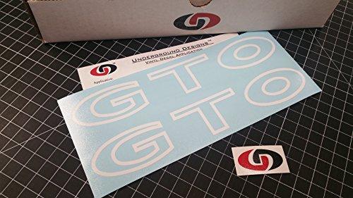 GTO Rocker Panel Decals Sideskirt Sticker SELECT COLOR: (Gloss White)