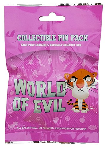 Disney Pin - World of Evil Mystery Collection Sealed Pack (5 random pins per pack) (Collection Pin Disney Mystery)