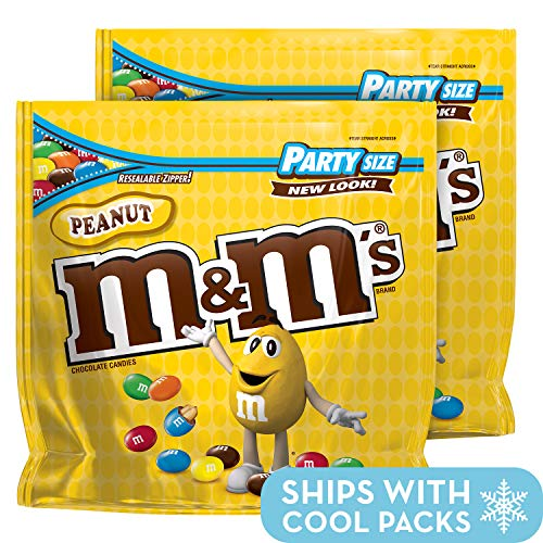 M&M'S Peanut Chocolate Candy Party Size 42-Ounce Bag (Pack of 2)