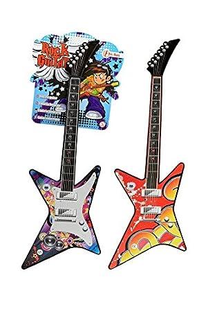 Mini Guitarra eléctrica 2 variantes Guitarra Niños juguete Niños Instrumento regalo Idea: Amazon.es: Hogar