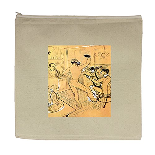 Chocolat Dance (Toulouse Lautrec) Canvas Zipper Tote Bag Makeup Bag by Style in Print (Image #1)