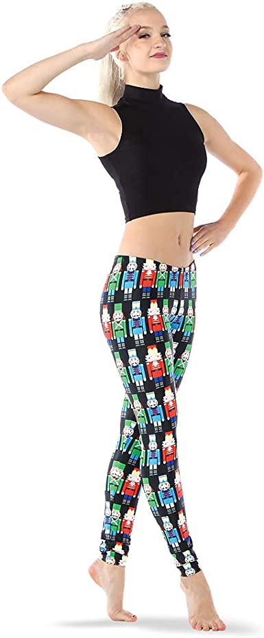 Alexandra Collection Youth Christmas Holiday Elf Athletic Workout Leggings