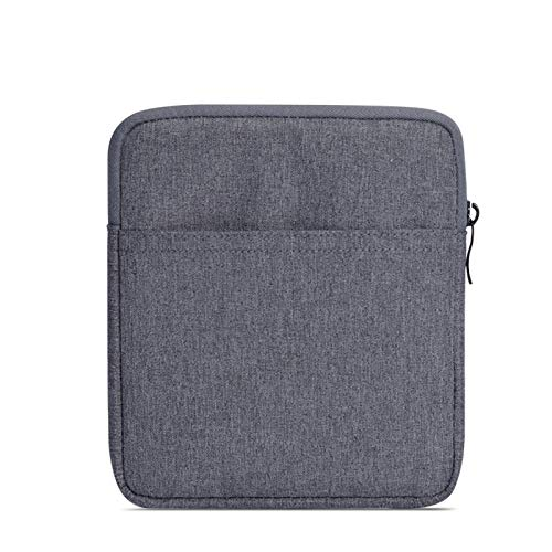 (SixiCat Kindle Oasis Sleeve Cover for Both 2019 and 2017 Release 7 Inch Kindle Oasis E-Reader Nylon Case Cover Pouch Travel Carry Bag for 7'' Kindle Oasis 2 3 E-Reader (Dark Grey))