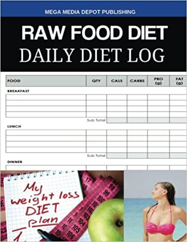 raw food diet daily diet log mega media depot 9781536989472