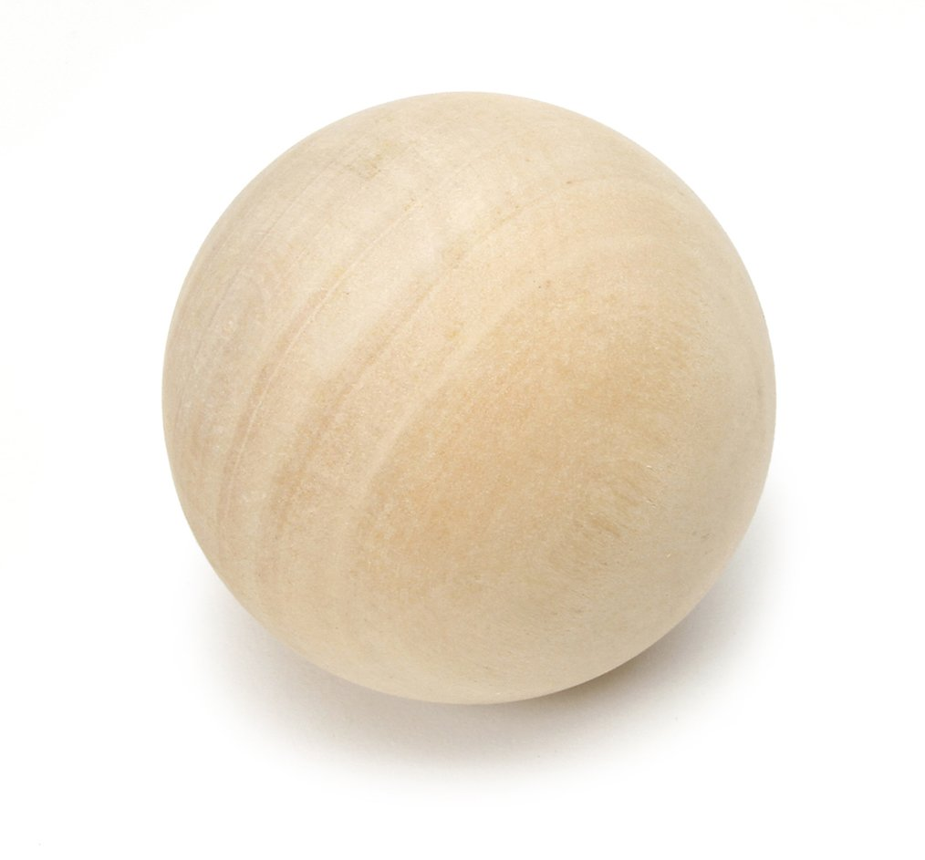 Darice 9112-59 Natural Unfinished Wood Round Ball, 2-1/2-Inch