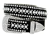 Ladies Western Rhinestone Bling Cowgirl Belt (Crystal, L(36''))