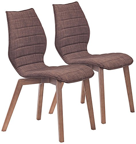 UPC 816226026645, Set of 2 Zuo Aalborg Tobacco Accent Chairs
