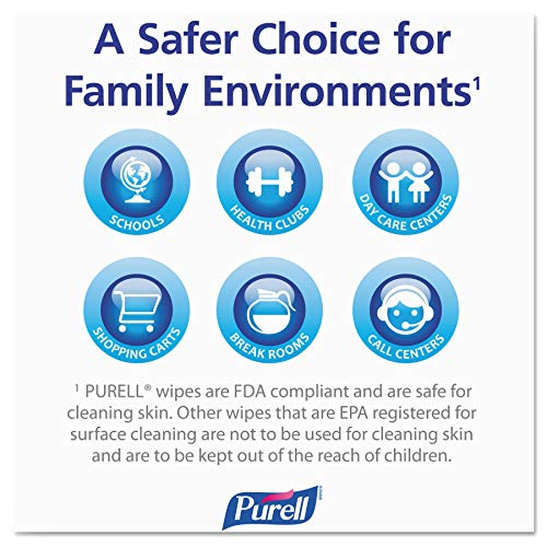 PURELL Hand Sanitizing Wipes, Fresh Citrus Scent, 100 Count Non-Linting Wipes Eco Slim Wipes Canisters (Case of 12) - 9111-12 by Purell (Image #4)