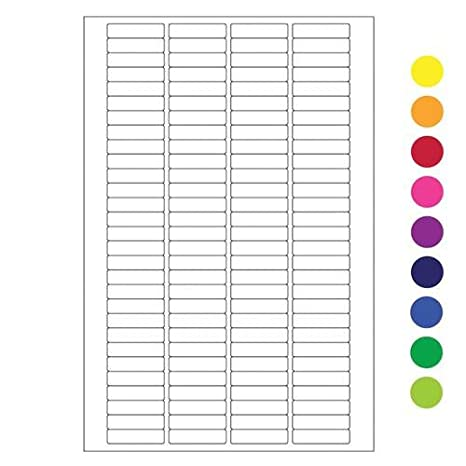 4 x 6 sheets Cryo laser labels for 0.2 ml PCR tubes 0.79 x 0.2// 20mm x 5.1mm
