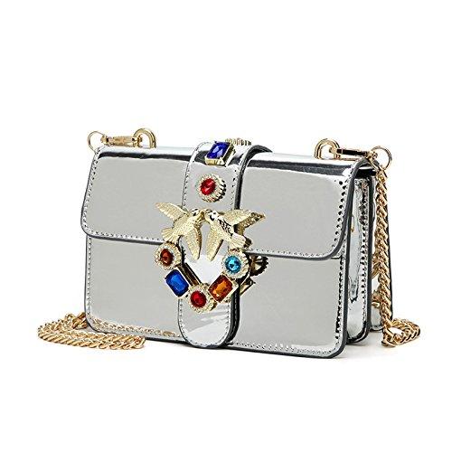Corps glamour avec des sacs à main de diamants pour les femmes Designer Sac fourre-tout sac à bandoulière bandoulière Messenger Bag Silver