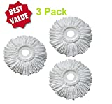 3 Pack Replacement Mop Head For Spin Mop Refill Hand Free Easy...
