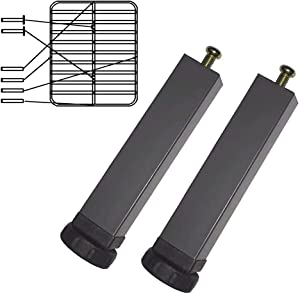2PCS Metal Adjustable Legs for Bed Furniture Hardware Cabinet Foot Legs feet Support/Heavy Duty Easy Install Bed Center Frame Slat Support Leg (7.9