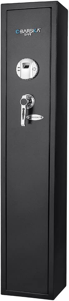 Barska Quick and Easy Access Biometric Rifles, Firearms and Long Guns Safe for Home, Removable Shelf, Optional Silent Mode, 1.83 Cubic Ft, Up to 4 Rifles without Any Accessories : Gun Safes : Sports & Outdoors