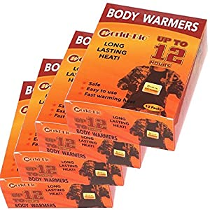 WORLD BIO Body Warmers Large Pads with Adhesive Backing Gives 12 Hours Warm (5.1''×3.7'', 10 Packs) for Women Men Kids, Big Heat Sticker for Camping Hiking