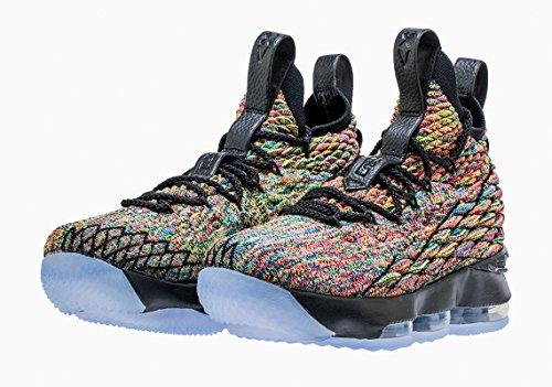 NIKE Men's Lebron 15 Basketball Shoes (9, Black/Multi (Lebron 9 Basketball Shoes)