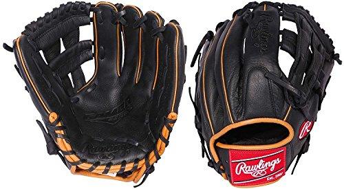 Rawlings  Gamer Gloves with Diamond Single Post Web, Left Hand, Black, 11.5
