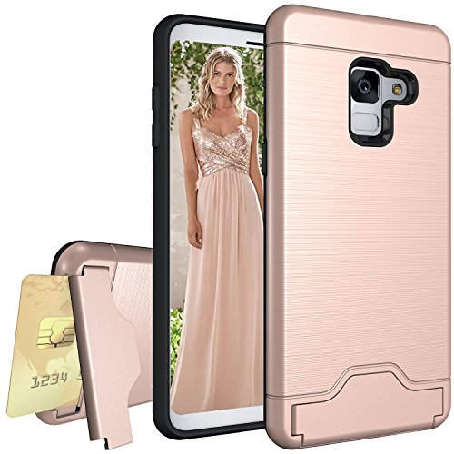 Galaxy A8(2018) Case,SUNGUY Card Slot Holder Dual...