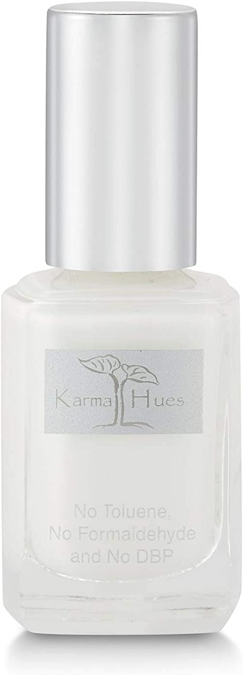 Karma Organic Natural Nail Polish-Non-Toxic Nail Art, Vegan and Cruelty-Free Nail Paint (French White)