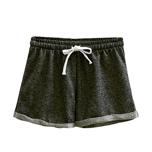 Grigio Casual Allenamento Yolia Womens Pantaloni Homewear Esecuzione Estivi Profondo Fitness Comodi Pantaloncini In ApWScZOW