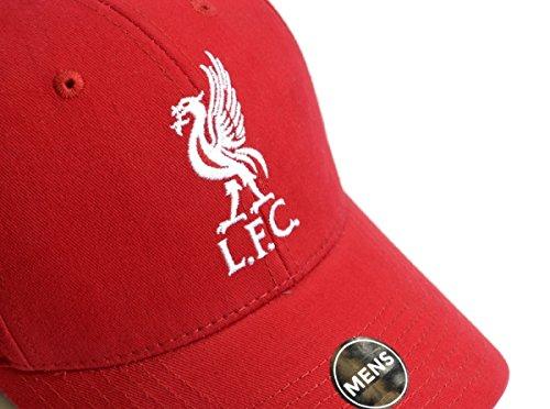 Liverpool LFC football casquette baseball chapeau plaine officielle velcro rouge