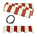 ALEKO FAB12X10MSTRED19 Retractable Awning Fabric