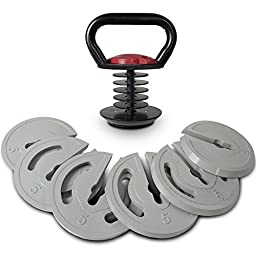 Titan Fitness 5lb to 40lb Adjustable Kettlebell Weight Workout Lifting Swing