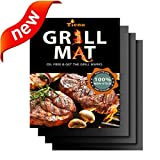 Pellet Stoves Lowes Best Deals - TIENO Non-Stick BBQ Grill Mats 16 x 13 Inches 0.20mm Thick for Charcoal, Electric and Gas Grills FDA Approved PFOA & BPA FREE Set of 3