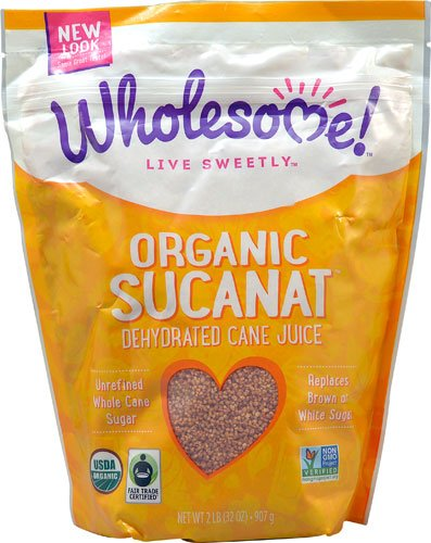 Wholesome Sweeteners Organic Sucanat Dehydrated Cane Juice -- 2 lbs