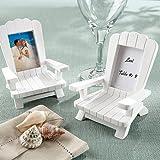 Adirondack Chair Frame/Placecard Holder White 4-Pack