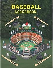 Baseball Scorebook: 150 pages baseball scorebook large print mlb, baseball books ,beckett baseball card price guide 2021,baseball scorebook app, baseball scorebook bob carpenter