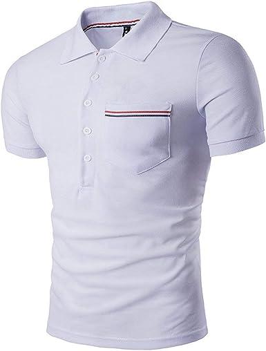 Polo Polo De Golf De Manga Corta para Hombre De Slim Fit Polo Golf ...