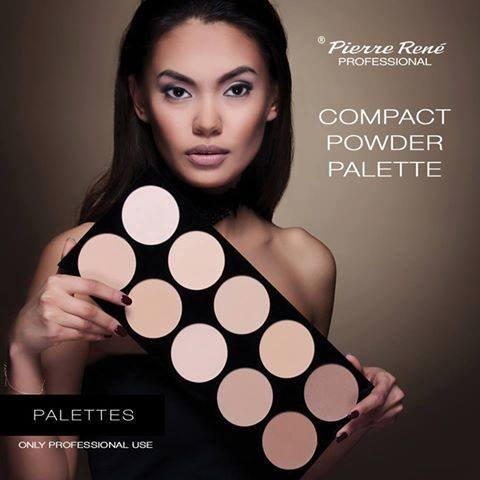 Pierre Rene Professional Make-Up - Compact Powder Palette - 10 high pigmented face powders for all skin tones. Professional Use only by Pierre Rene Professional